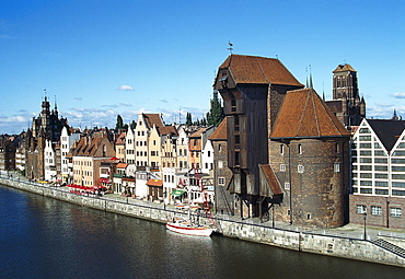 Medieval gate with crane, Gdansk, Poland