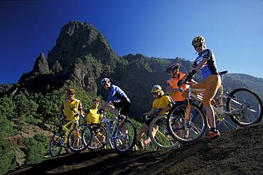 Mountainbikers, La Palma, Canary Islands