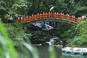 View at bridge at a park, Wulai, Taipei, Taiwan, Asia