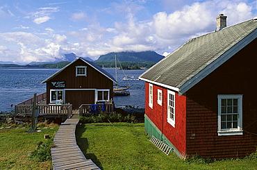 Farmhouses at Tofino, Vancouver Island, British Columbia, Canada, North America, America