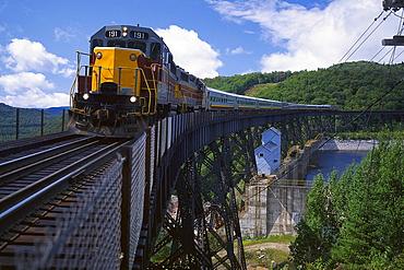 Railway at Montreal River Trestle, Lake Superior, Ontario, Canada, North America, America