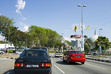Downtown Traffic, Bandar Seri Begawan, Brunei Darussalam, Asien
