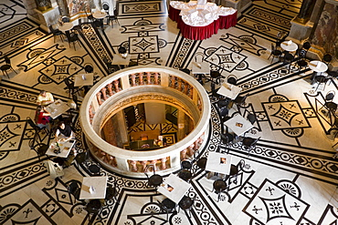 Cafe in the cupola hall of Kunsthistorisches Museum Art History Museum, Vienna, Austria