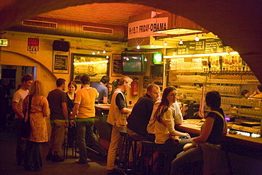People at bar of the nightclub Chelsea, Vienna, Austria