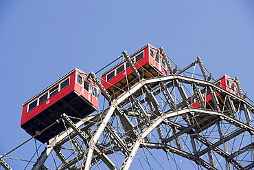 Part of the Ferris wheel, Prater, Vienna, Austria