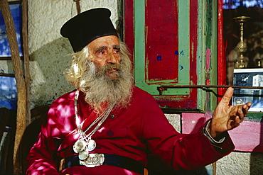 Patio, Museum Papa Michelis, Assomatos, Crete, Greece