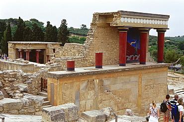 Minoian Palace, Knossos near Iraklion, Crete, Greece
