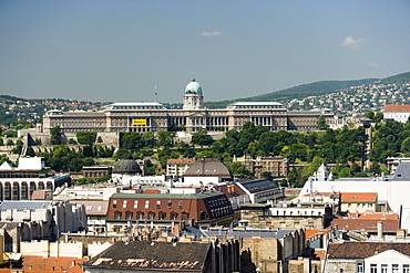 Royal Palace on Castle Hill, View to the Royal Palace on Castle Hill, Buda, Budapest, Hungary