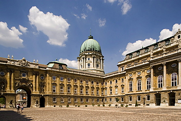 Courtyard of the Royal Palace, Courtyard of the Royal Palace on Castle Hill, Buda, Budapest, Hungary