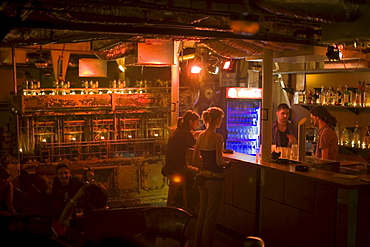 People at bar of the A38 ship, People at bar of the A38 ship, a nightclub on the Danube river near the Petoefi Bridge, Buda, Budapest, Hungary