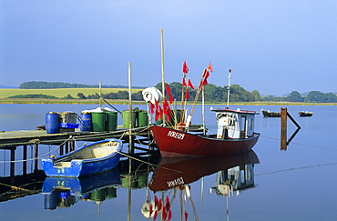 Europe, Germany, Mecklenburg-Western Pomerania, isle of Ruegen, fishing harbour Gobbiner Haken