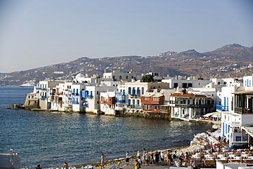 Restaurants, Bars, Little Venice, Mykonos, Greece