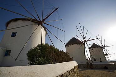 Famous traditional windmills, Mykonos-Town, Mykonos, Greece