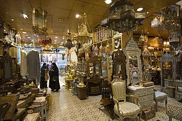 Damascene Furniture and Gifts at Souq al-Hamidiyya Covered Market, Damascus, Syria, Asia