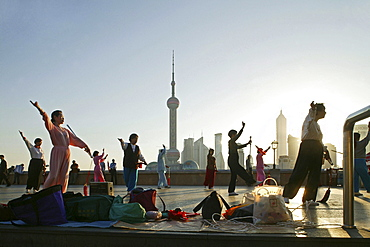 Morning exercise, sword dance, Shanghai