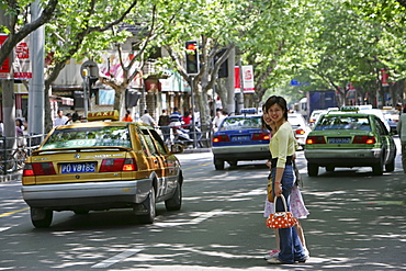 French Concession, pedestrian, car