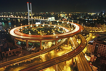 elevated highway system, Nanpu Bridge Interchange, Shanghai