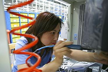 High-Tech, switch production, women worker, technician