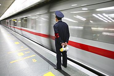 train guard, Metro Shanghai
