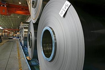 ThyssenKrupp, hall, plant, sheet metal, steelworker, rolled steel, rolling mill