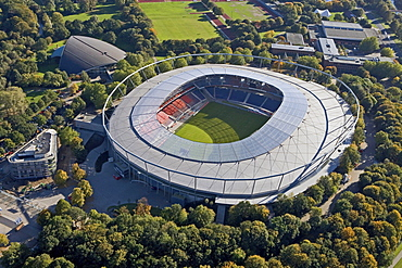 AWD Arena, high angle view at a football stadium, Hanover, Germany