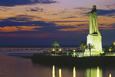 Monumental statue for Columbus, Rio Odiel, Rio Tinto, Huelva, Andalusia, Spain87