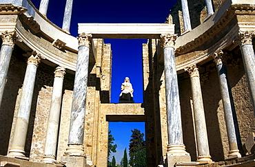 Teatro Romano, Roman Theater, Merida, Province Badajoz, Extremadura, Spain