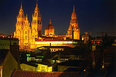 Cathedral, Santiago de Compostela, Province La Coruna, Galicia, Spain