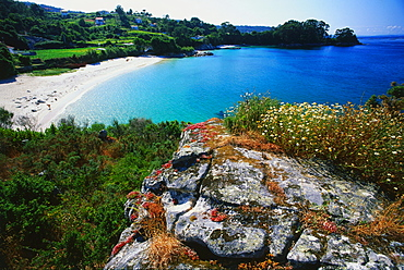 Beach near Vilanova, near Cangas, Province Pontevedra, Galicia, Spain