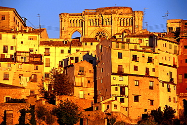 Old town and cathedral, Jucar-Gorge, Cuenca, Castilla-La Mancha, Spain