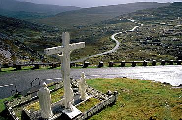 Cross, Healy Pass, Ring of Beara, County Cork, Ireland
