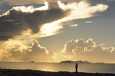 Sunset Silhouette, Beachcomber Island, Mamanuca Islands, Fiji