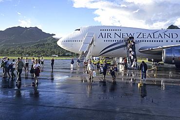 Air New Zealand 747-400, Rarotonga Airport, Rarotonga, Cook Islands