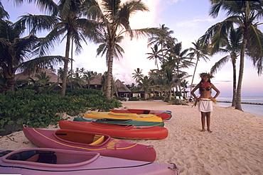 Resort Canoes, The Rarotongan Beach Resort, Rarotonga, Cook Islands