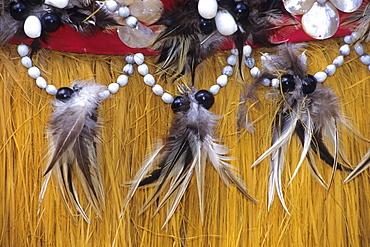 Traditional Grass Skirt, Cook Islands Cultural Village, Rarotonga, Cook Islands