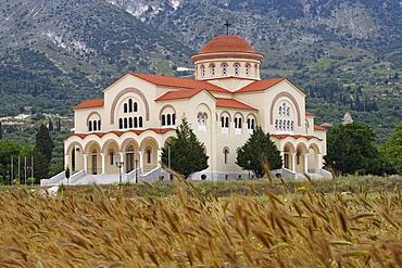 The St Gerasimou monastery in the plain of Omala, Cephalonia, Ionian Islands, Greece