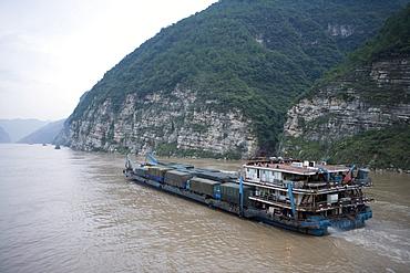 Yangtze Freighter, Yangtze River, Near Yichang, China
