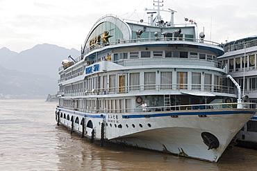 Yangtze Star River Cruise Ship, Sandouping, Yichang, Xiling Gorge, Yangtze River, China