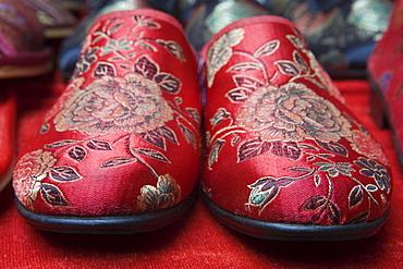 Red Slipper Souvenirs at Shibaozhai Pavilion, Yangtze River, Shibaozhai, China