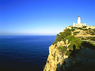 View of Lighthouse, Cabo Formentor, Mallorca, Spain