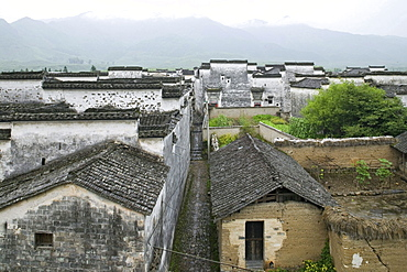 Traditional houses at the village Nanping, Huangshan, China, Asia