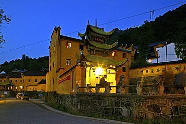 Jiuhua Shan Village, Zhiyuan Monastery, Jiuhuashan, Mount Jiuhua, mountain of nine flowers, Jiuhua Shan, Anhui province, China, Asia