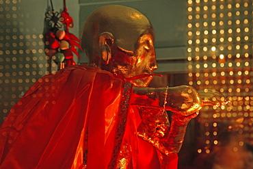 Mummy of 126 year old monk Wuxia, in the Longevity Hall, Baisui Gong, Jiuhuashan, Mount Jiuhua, mountain of nine flowers, Jiuhua Shan, Anhui province, China, Asia
