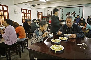 Vegetarian monastery restaurant, Buddhist Island of Putuo Shan near Shanghai, Zhejiang Province, East China Sea, China
