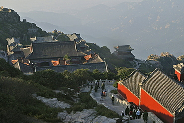 Azure Cloud Temple, Tai Shan, Shandong province, Taishan, Mount Tai, World Heritage, UNESCO, China, Asia