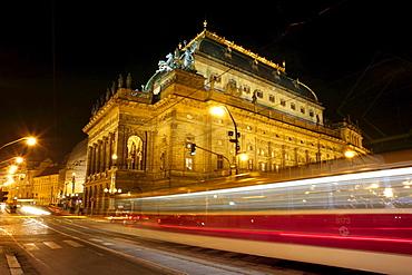 National Theatre and tram, Nova Mesto, New Town, Prague, Czech Republic