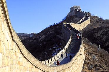 Great Wall of China near Badaling, China, Asia