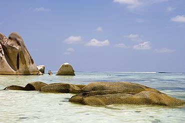 Granite Rocks at Anse Source D'Argent Beach, La Digue Island, Seychelles