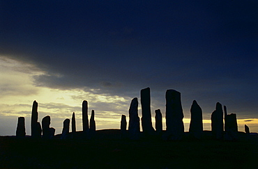 The Standing Stones of Callanish, Outer Hebrides, Scotland, Great Britain