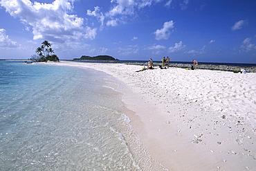A beach on Sandy Island, Carriacou, Grenada, Carribean
